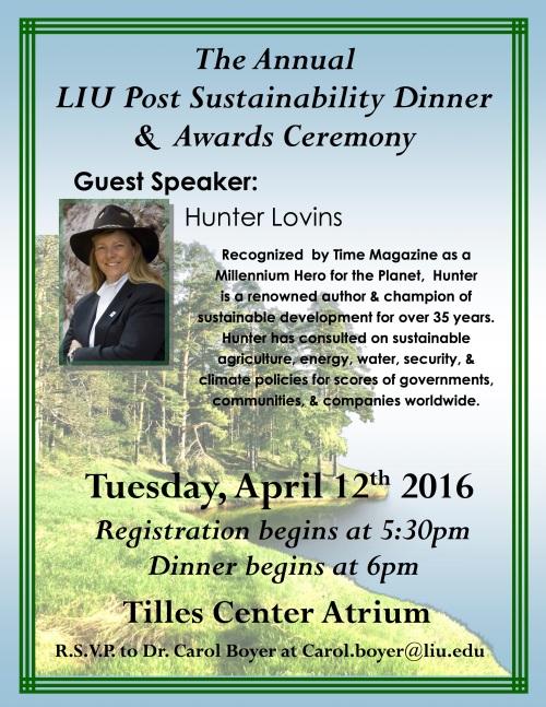2016 Sustainability Dinner & Awards